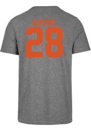 Claude Giroux Philadelphia Flyers Grey MVP Short Sleeve Fashion Player T Shirt