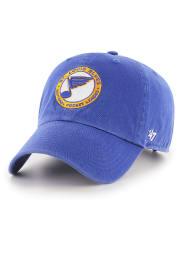 '47 St Louis Blues Retro Clean Up Adjustable Hat - Blue