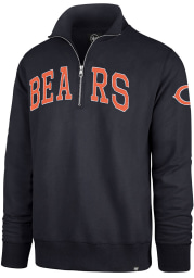 47 Chicago Bears Mens Navy Blue Upstate Striker Long Sleeve 1/4 Zip Fashion Pullover