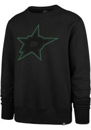47 Dallas Stars Mens Black Pop Imprint Headline Long Sleeve Crew Sweatshirt