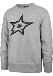 47 Dallas Stars Mens Grey Pop Imprint Headline Long Sleeve Crew Sweatshirt