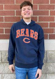 47 Chicago Bears Mens Navy Blue Pinnacle Striker Fashion Hood