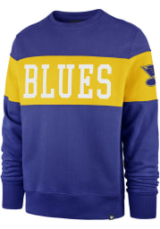 47 St Louis Blues Mens Blue Interstate Long Sleeve Fashion Sweatshirt