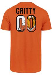 Gritty # Philadelphia Flyers Orange 47 Most Valuable Player Short Sleeve T Shirt