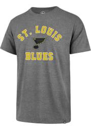 47 St Louis Blues Grey Varsity Arch Super Rival Short Sleeve T Shirt