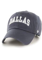 47 Dallas Ft Worth Script Clean Up Adjustable Hat - Navy Blue