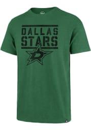 47 Dallas Stars Kelly Green Letterpress Scrum Short Sleeve Fashion T Shirt
