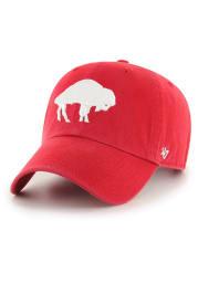 47 Buffalo Bills Retro Clean Up Adjustable Hat - Red