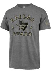 47 Dallas Stars Grey Camo Club Short Sleeve T Shirt