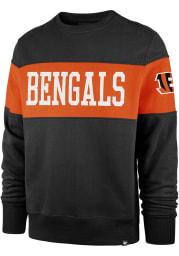 47 Cincinnati Bengals Mens Black Interstate Long Sleeve Fashion Sweatshirt