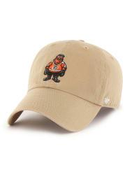 Gritty Philadelphia Flyers Mascot Clean Up Adjustable Hat - Khaki