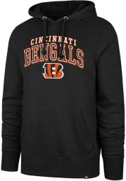 47 Cincinnati Bengals Mens Black Double Decker Headline Long Sleeve Hoodie