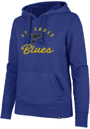 47 St Louis Blues Womens Blue Headline Hooded Sweatshirt