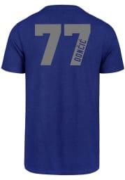 Luka Doncic Dallas Mavericks Blue Name and Number Short Sleeve Player T Shirt