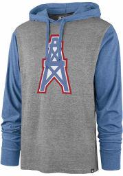47 Houston Oilers Mens Grey Imprint Callback Club Long Sleeve Hoodie