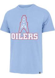 47 Houston Oilers Light Blue Replay Franklin Short Sleeve Fashion T Shirt