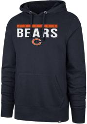 47 Chicago Bears Mens Navy Blue Power Luck Headline Long Sleeve Hoodie