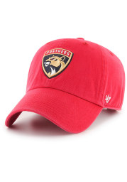 47 Florida Panthers Clean Up Adjustable Hat - Red