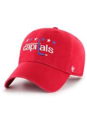 47 Washington Capitals Alt Clean Up Adjustable Hat - Red