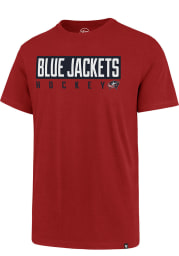 47 Columbus Blue Jackets Red Block Super Rival Short Sleeve T Shirt