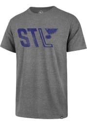 47 St Louis Blues Grey Regional Club Short Sleeve T Shirt