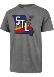 47 St Louis Blues Grey Regional State Club Short Sleeve T Shirt