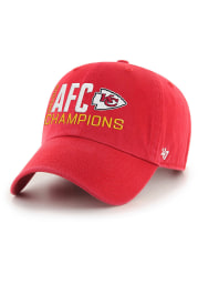 47 Kansas City Chiefs 2020 Conference Champions Clean Up Adjustable Hat - Red