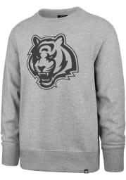 47 Cincinnati Bengals Mens Grey Pop Imprint Headline Long Sleeve Crew Sweatshirt