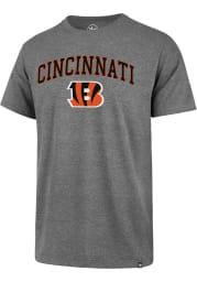 47 Cincinnati Bengals Grey ARCH GAME CLUB Short Sleeve T Shirt