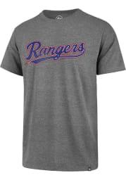 47 Texas Rangers Grey Imprint Rival Short Sleeve T Shirt