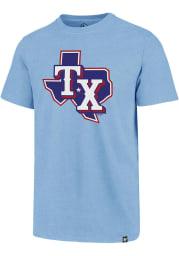 47 Texas Rangers Light Blue Imprint Club Short Sleeve T Shirt