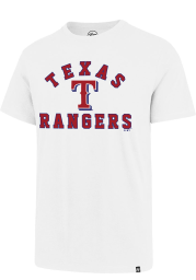 47 Texas Rangers White Varsity Arch Rival Short Sleeve T Shirt