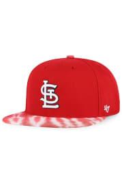 47 St Louis Cardinals Red Truckin Tie Dye Captain Mens Snapback Hat