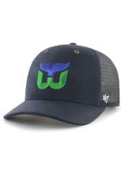 47 Hartford Whalers Carhartt Mesh MVP Adjustable Hat - Navy Blue