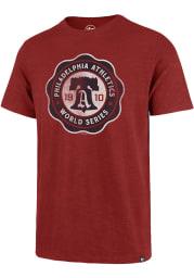 47 Philadelphia Athletics Red Scrum Short Sleeve Fashion T Shirt