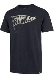 47 St Louis Blues Navy Blue Scrum Short Sleeve Fashion T Shirt