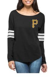 47 Pittsburgh Pirates Womens Black Courtside LS Tee