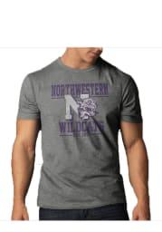 47 Northwestern Wildcats Grey Scrum Short Sleeve Fashion T Shirt