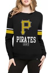 47 Pittsburgh Pirates Womens Black Throwback Crew Sweatshirt