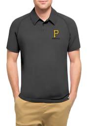 47 Pittsburgh Pirates Mens Black Forward Athleisure Polo