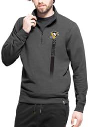47 Pittsburgh Penguins Mens Black On Side Long Sleeve 1/4 Zip Pullover