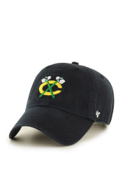 47 Chicago Blackhawks Clean Up Adjustable Hat - Black