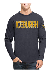 47 Pittsburgh Penguins Navy Blue Two Peat Long Sleeve Fashion T Shirt