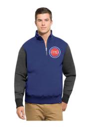 47 Detroit Pistons Mens Blue Triple Coverage Long Sleeve 1/4 Zip Fashion Pullover