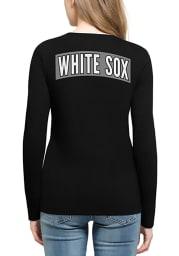 47 Chicago White Sox Womens Black Clutch Backer Long Sleeve T-Shirt