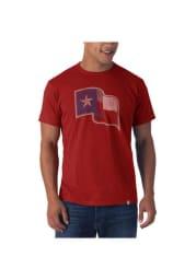 47 Texas Rangers Red Flanker Short Sleeve Fashion T Shirt
