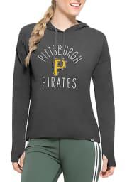 47 Pittsburgh Pirates Womens Black Energy Lite Hooded Sweatshirt