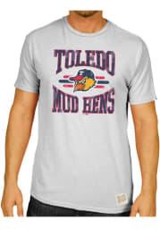 Original Retro Brand Toledo Mud Hens White #1 Graphic Short Sleeve Fashion T Shirt