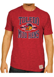 Original Retro Brand Toledo Mud Hens Red #1 Graphic Short Sleeve Fashion T Shirt