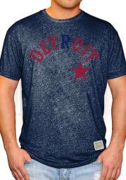 Original Retro Brand Detroit Stars Navy Blue Wordmark Short Sleeve Fashion T Shirt
